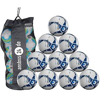 10 x Uhlsport training ball Futsal - MEDUSA NEREO includes ball sack