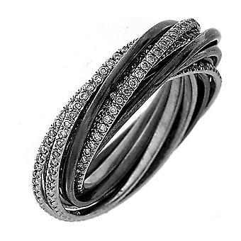 Diamond Ring Ring - 18K 750 White Gold - 1.45 ct.