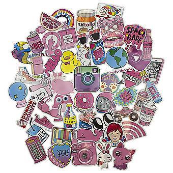50x Stickers - Pink