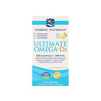 Ultimative Omega-D3 Zitrone 1000 mg (60 Soft Gels) - Nordic Naturals