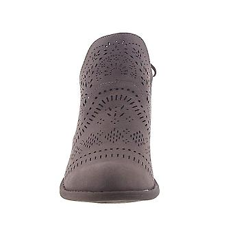 Very G Womens Cindy Faux Leather Laser Cut Booties
