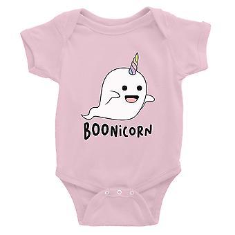 Boonicorn lindo traje de Halloween fantasma unicornio bebé Bodysuit regalo rosa