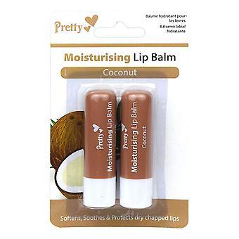 Pretty Moisturising Lip Balm Twin Pack ~ Coconut