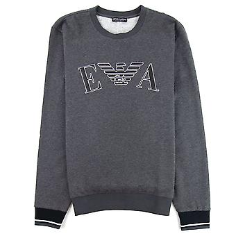 Emporio Armani Logo Print Sweatshirt Grey