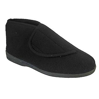 Coolers Mens Fleece Touch Fastening Orthopaedic Boot Slipper