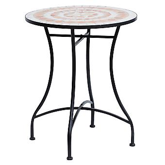 Outsunny 60cm Mosaic Round Bistro Table Side Bar Table Patio Garden Outdoor Balcony Furniture