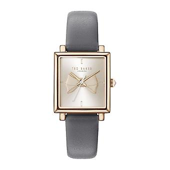 Ted Baker Isabella Quartz Gold Bow Dial Grey Leather Strap Ladies Watch TE50516002