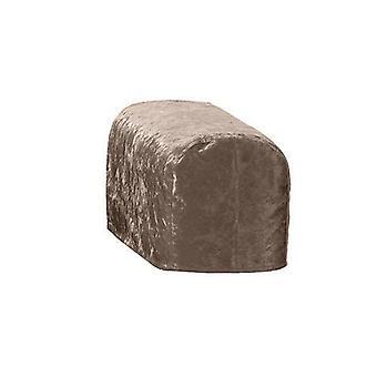 Suurikokoinen suklaa murskata Velvet ARM korkki tuoli kansi suojelija Slipcover sohva