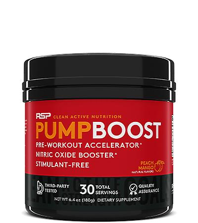 Rsp pump boost, pre-workout, nitric oxide booster, stimulant free (peach mango, 30 servings)