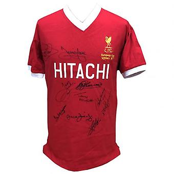 Liverpool 1977 European Cup Winners Signed Shirt