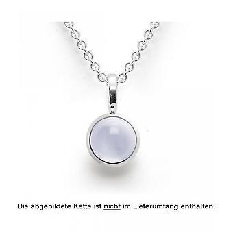 bastian inverun - 925/- polished silver pendant, chalcedony 1,62ct - 24720