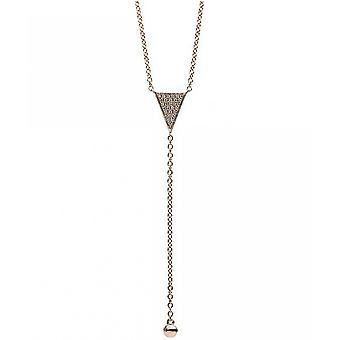 Diamantcollier Collier - 14K 585 Rotgold - 0.09 ct.