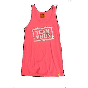 Team phun stencil tank top pink