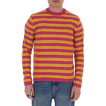 Acne Studios B60099rosaarancione Uomini's Multicolor Cotton Sweater