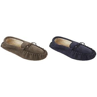 Mokkers Mens Jake Real Suede Moccasin Slippers