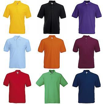 Vrucht van de Loom Mens 65/35 Pique korte mouw Polo Shirt