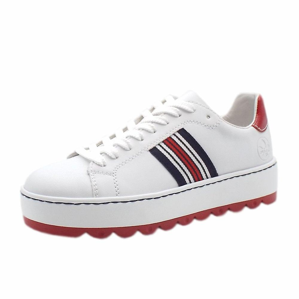 Rieker N4622-81 Alburi Smart Casual Fashion Trainers In White GED6F