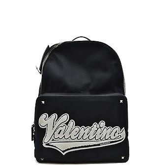 Valentino Ezbc026089 Men's Black Fabric Backpack