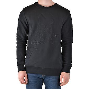 Philipp Plein Ezbc428027 Men's Black Cotton Sweatshirt