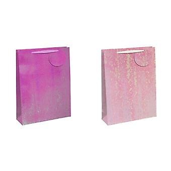 Eurowrap Iridescent Embossed Gift Bags (Pack of 6)