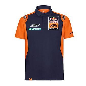 Red Bull KTM Racing Official Teamline Men's Polo Shirt | Navy/Orange
