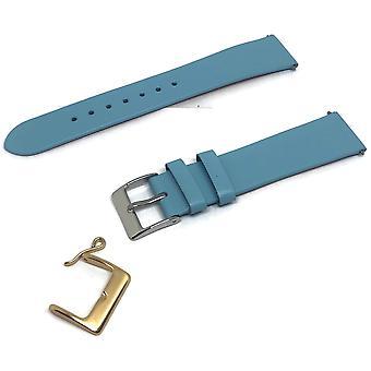Vasikka nahka katsella hihna jauhe sininen pastelli sävyjä koot 10mm 20mm kultaa ja ruostumatonta terästä soljet