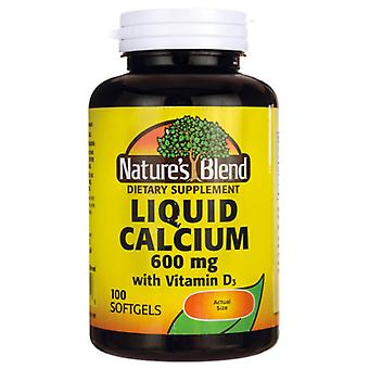 Nature's blend liquid calcium, 600 mg, with vitamin d3, softgels, 100 ea