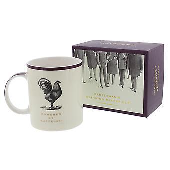Aangedreven door cafeïne China mok - Emporium collectie - Gift Gentleman Man papa