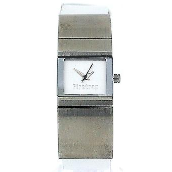 Firetrap Ladies Half Stainless Steel & Half White Leather Strap Watch FT1025S