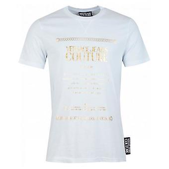Versace Jeans Couture Slim Fit Foil Text Print T-Shirt