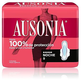 Ausonia Night Sanitary Towels with Wings 9 uds
