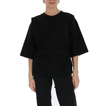 Mm6 Maison Margiela S52gu0113s25337900 Women's Black Cotton Sweatshirt