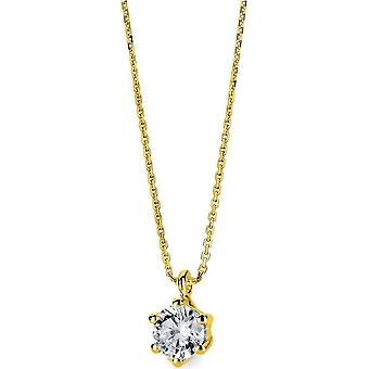 Diamond Collier Collier - 14K 585/- Yellow Gold - 0.2 ct. - 4A711G4-1