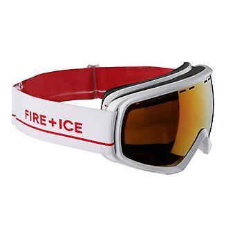 بوغنر الأبيض النار الجليد قناع التزلج
