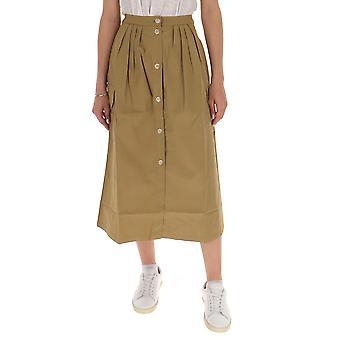 Semi-couture S0sq05v42 Women's Beige Cotton Skirt