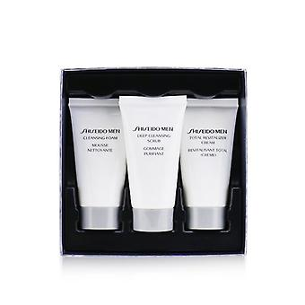 Total Age Defense 3-pieces Set: Cleansing Foam 30ml + Cleansing Scrub 30ml + Revitalizer Cream 30ml - 3pcs