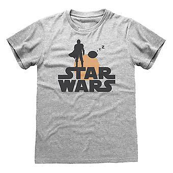 スター・ウォーズ マンダロリアン・マンドと子供のシルエットメン&アポ;s Tシャツ |オフィシャル・グッズ
