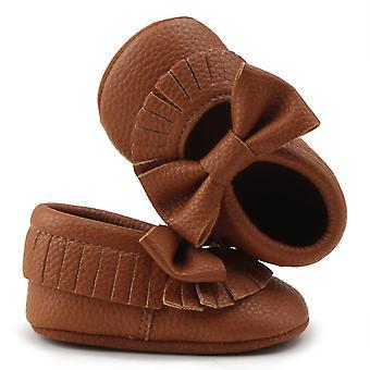 Delebao infant taapero vauva pehmeä ainoa tupsu keula keula mokkasiinit seimi kengät