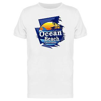 Retro Ocean Beach Cali Graphic Tee Men's -Image by Shutterstock