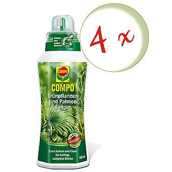 Sparset: 4 x COMPO green plant and palm fertilizer, 500 ml