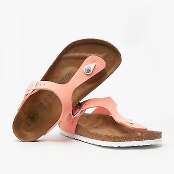 Birkenstock Gizeh 1018154 (reg) Bayanlar Vegan Toe Post Sandalet Fırçalı Flamingo