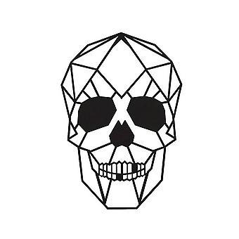 Decoração da Parede Skull Color Aço preto 35x0.15x50 cm