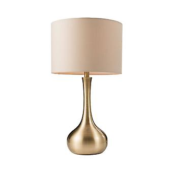 Piccadilly Lamp, Brass, With Lampshade