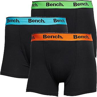 Bench Barnes 3 Pack Trunk Boxer Shorts Black 77