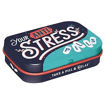 Humorous Anti Stress Pills - Sugar Free Mint Tin - Cracker Filler Gift