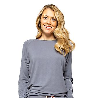 Cyberjammies Hallie 4528 Dames's Grey Slouch Pyjama Top