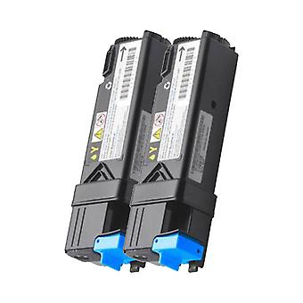 RudyTwos 2x Replacement for Dell 593-11041 Toner Unit Cyan Compatible with 2150, 2150cn, 2150cdn, 2155, 2155cn, 2155cdn
