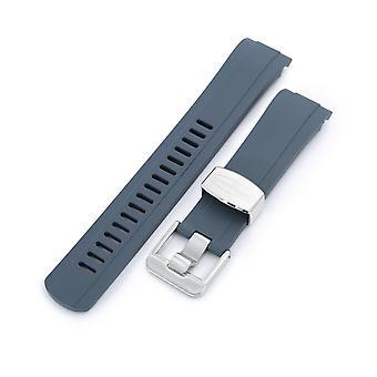 Strapcode kumikellohihna 22mm crafter sininen - cb10 harmaa kumi kaareva kengänkello nauha seiko skx007 wcp56253