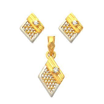 22K Diamond Shaped Gold Set Jewelry