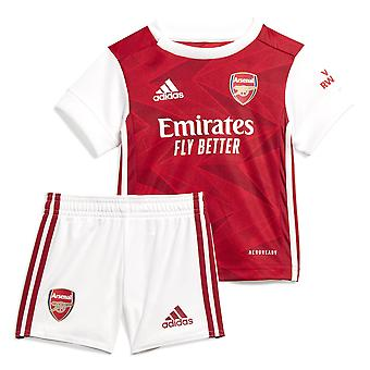 adidas Arsenal 2020/21 Infant Kids Baby Home Football Kit Red